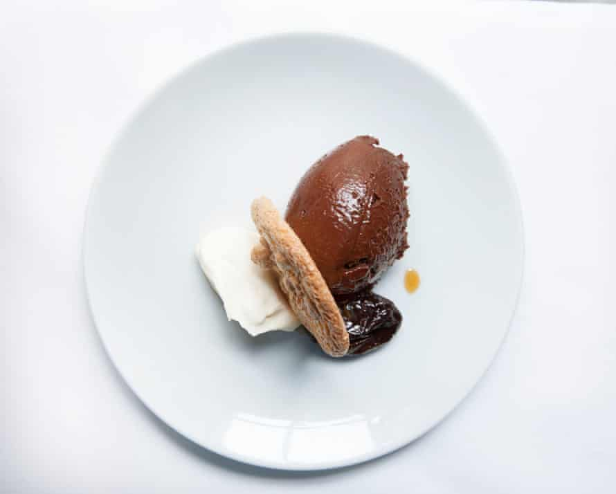Heaven is the chocolate mousse at Soho's Noble Rot in London.