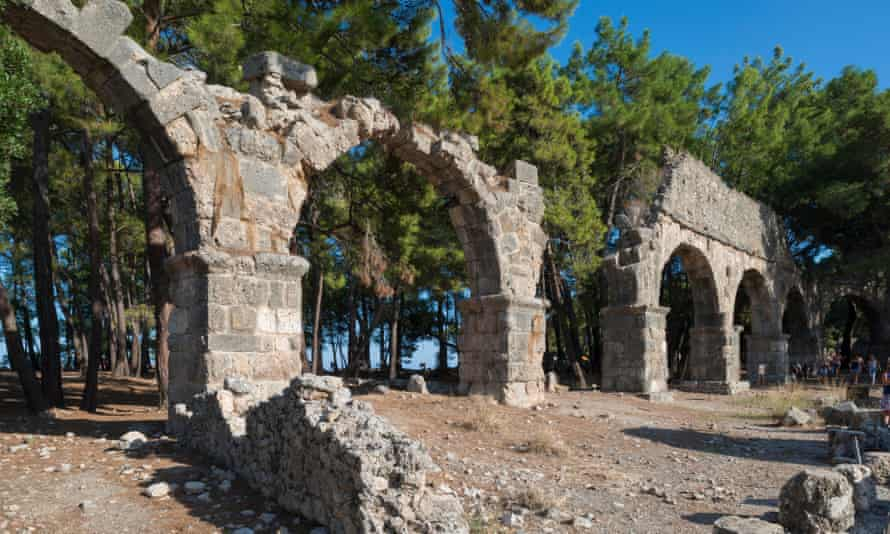 Ruins of an aqueduct in the ancient city of Phaselis.