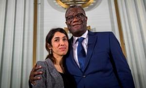 Nadia Murad and Denis Mukwege