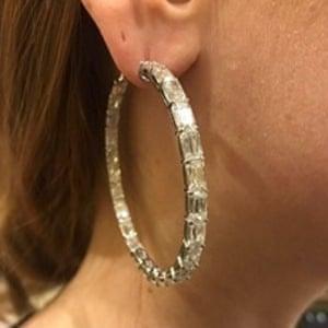 An earring stolen in the raid.
