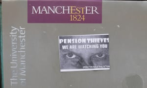 A sign pasted by the door of the Arthur Lewis Building at Manchester University