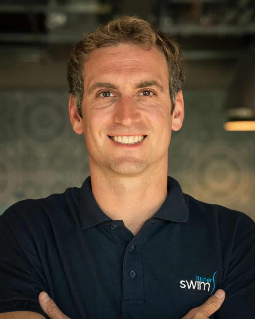 Andrew McAllister, who runs a swim coaching business.