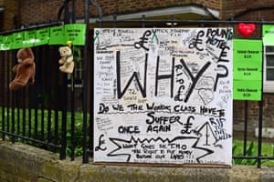 Messages are left on a board in Latimer Road