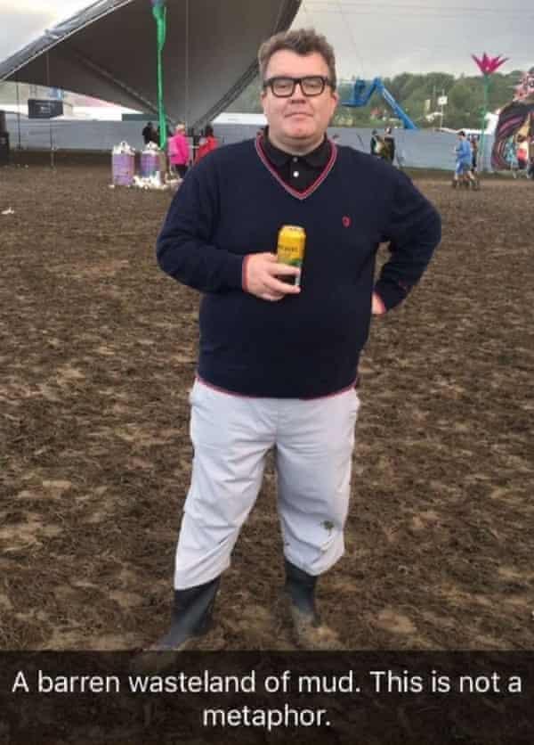 Tom Watson at Glastonbury.