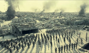 A scene from the Chinese war epic, The Eight Hundred.