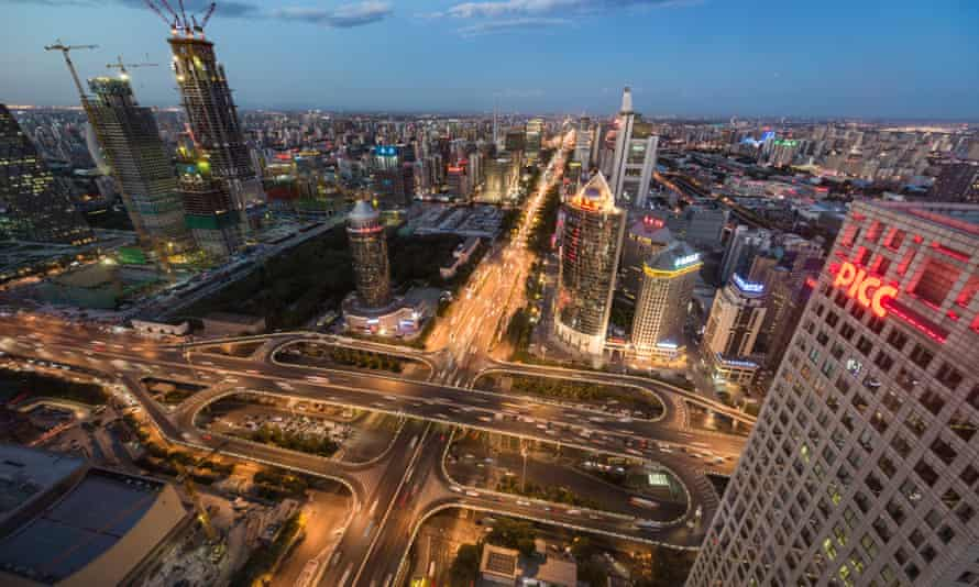 Beijing at night: 'Since the financial crisis, the west's decline and China's rise have accelerated'