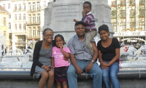 Andy Tsege, pictured in 2014 with his family.