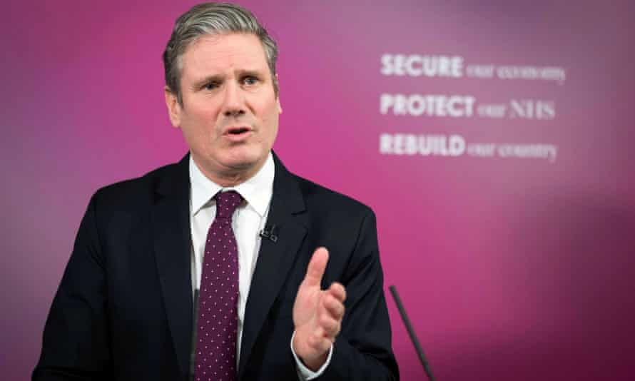 The Labour party leader, Keir Starmer, delivers a speech on Britain's economic future.