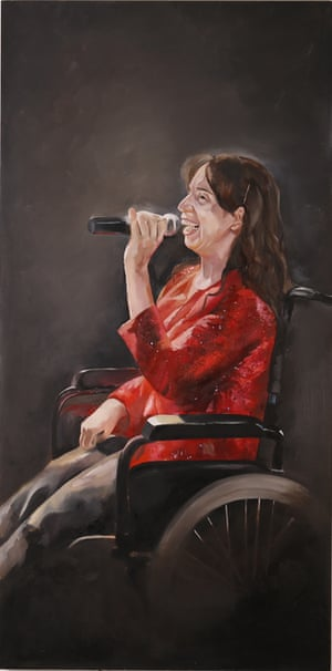 Ellie (oil on panel,122cm x 61cm) Lauren Matthews is a fine art student at Arts University Bournemouth.