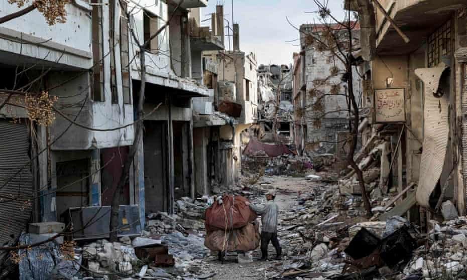 The toll of the war on Syria has been immeasurable. Here the Old City of Homs, destroyed by years of conflict.