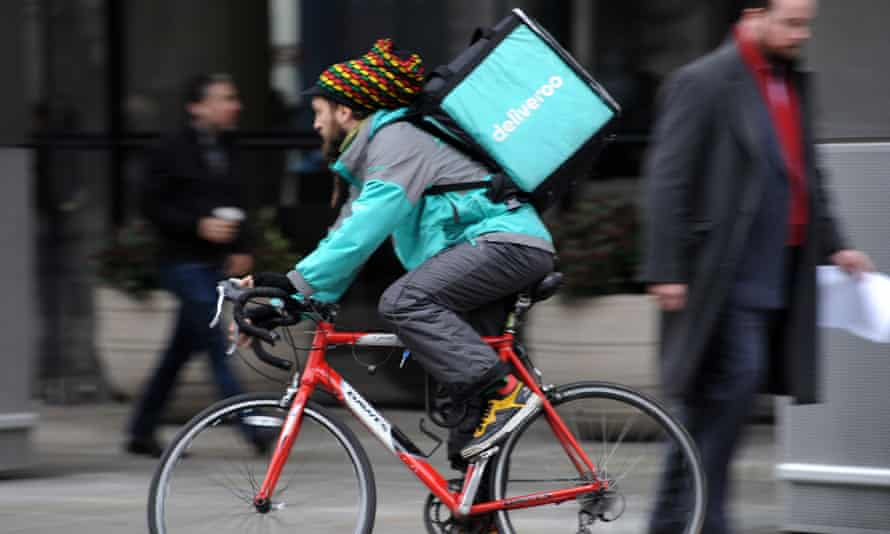 Deliveroo courier in London
