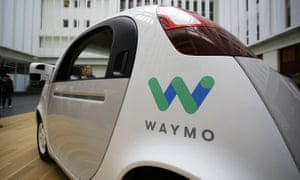 The Waymo driverless car is displayed during a Google event, Tuesday, Dec. 13, 2016, in San Francisco. The self-driving car project that Google started seven years ago has grown into a company called Waymo. The new identity announced Tuesday marks another step in an effort to revolutionize the way people get around. Instead of driving themselves, people will be chauffeured in robot-controlled vehicles if Waymo, automakers and ride-hailing service Uber realize their vision within the next few years. (AP Photo/Eric Risberg)