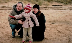 Carl Gorham with his wife, Vikki, and their daughter, Romy