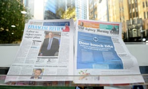 Fairfax Media newspapers the Australian Financial Review and the Sydney Morning Herald
