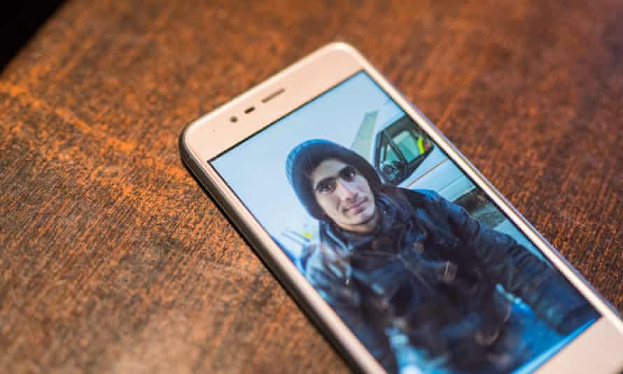 A picture of Abdullah Dilsouz on his cousin's phone.