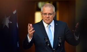 Prime minister Scott Morrison speaks to the media during a press conference at Parliament House in Canberra
