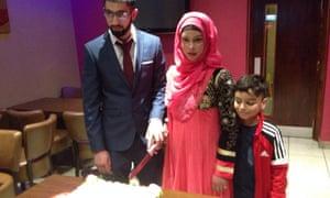 Qasim and Debora on their wedding day
