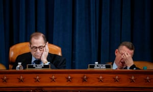 House judiciary committee chairman Jerry Nadler and Republican ranking member Doug Collins during the rare evening session on Wednesday.