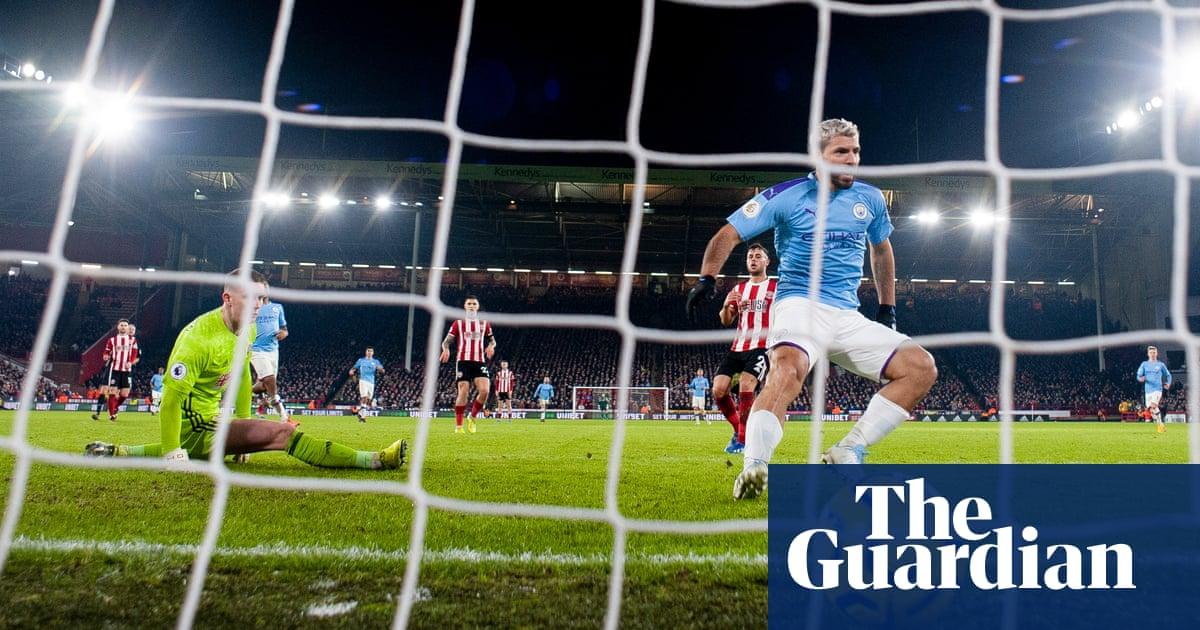 Sergio Agüero's tap-in for Manchester City breaks Sheffield United barrier