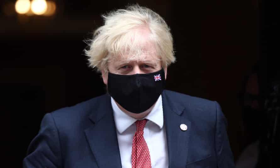 Masked Boris Johnson