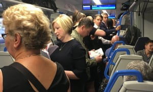 An overcrowded Thameslink service from Hassocks, West Sussex. A signalling fault in Streatham Common, south London has caused dozens of trains to and from London Victoria to be cancelled resulting in travel disruption and packed carriages.