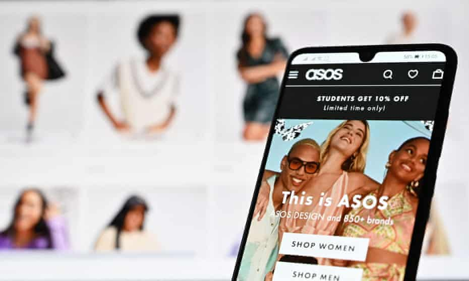 An illustration with a laptop and mobile phone shows the website of online fashion retailer Asos