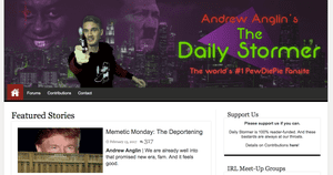 The Daily Stormer's homepage.