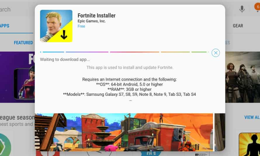 Fortnite developer Epic Games has decided to host the app for download on its own site instead of on the Google Play Store.