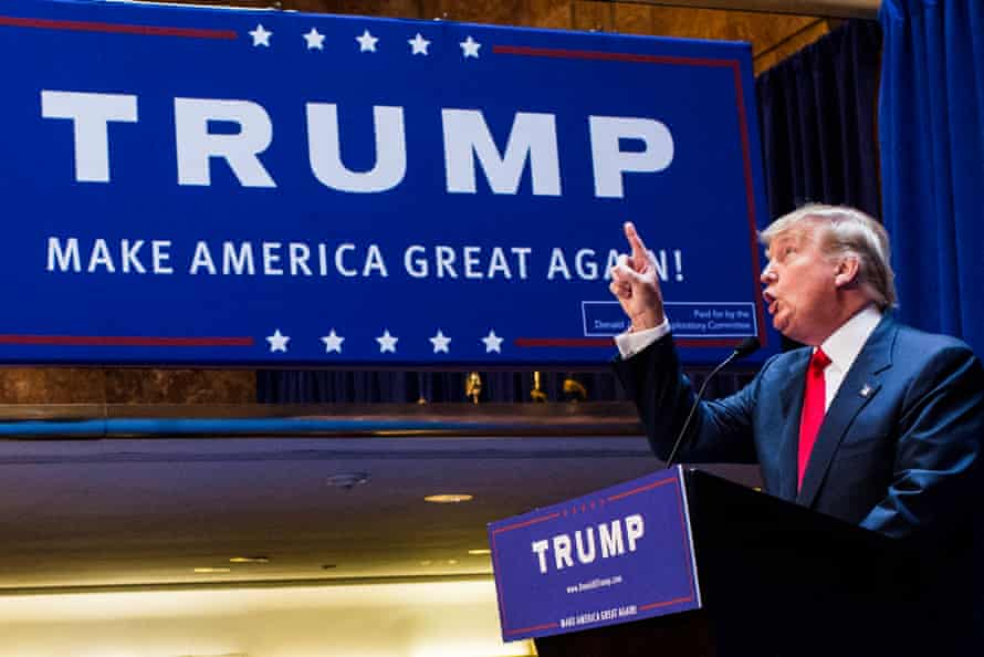 Donald Trump announces his candidacy on that day in 2015.