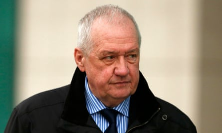 David Duckenfield leaves the Hillsborough inquests in Warrington.