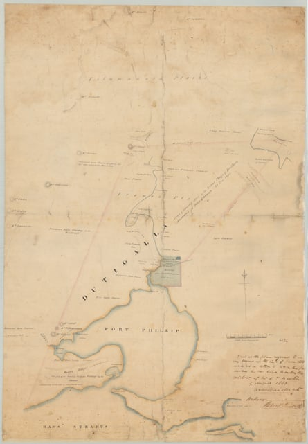 Map of Port Phillip from the survey of Mr Wedge and others.