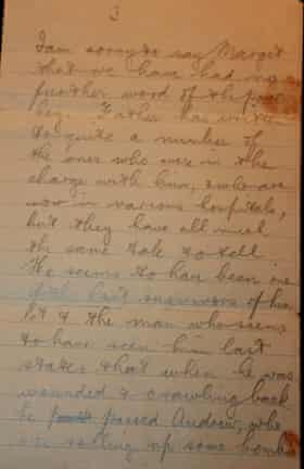 A page of a letter sent during the Battle of the Somme, 3 September 1916. (Transcribed in the article).