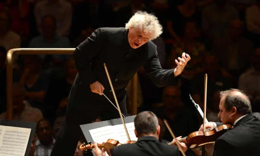 Sir Simon Rattle conducts the LSO at the Barbican, London