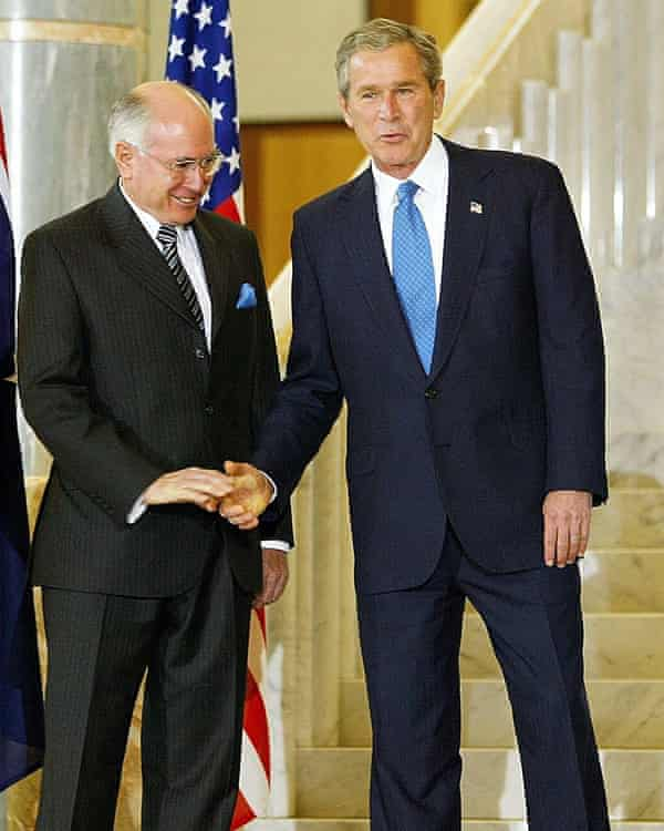 John Howard with US president George W Bush, under whom the Australian PM hoped to achieve his desired climate outcomes.