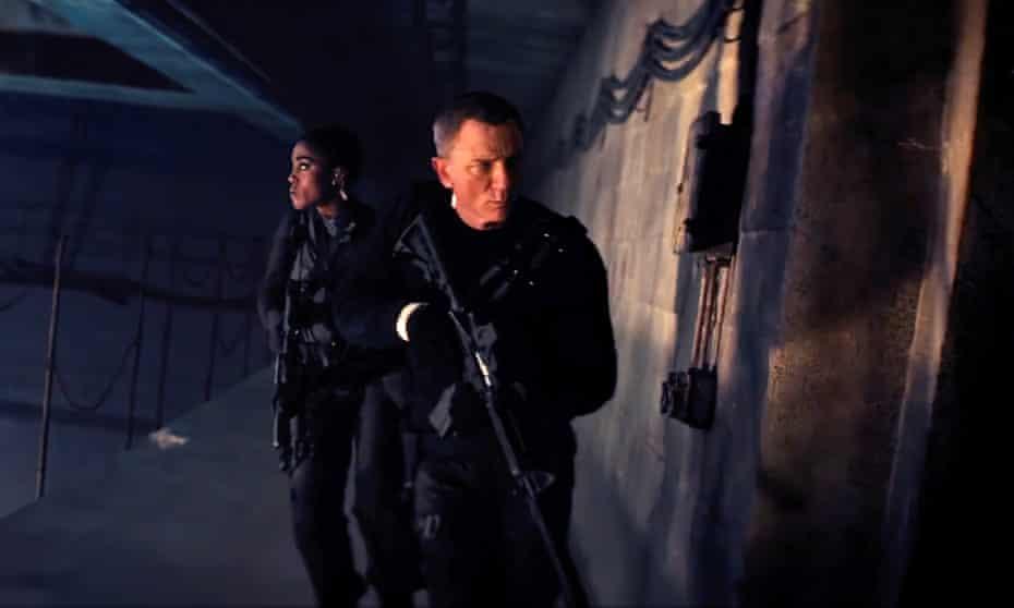 Daniel Craig with Lashana Lynch in No Time To Die (2021)