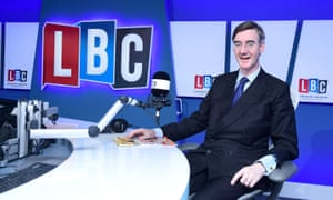 Jacob Rees-Mogg during his LBC radio phone-in programme, April 2018