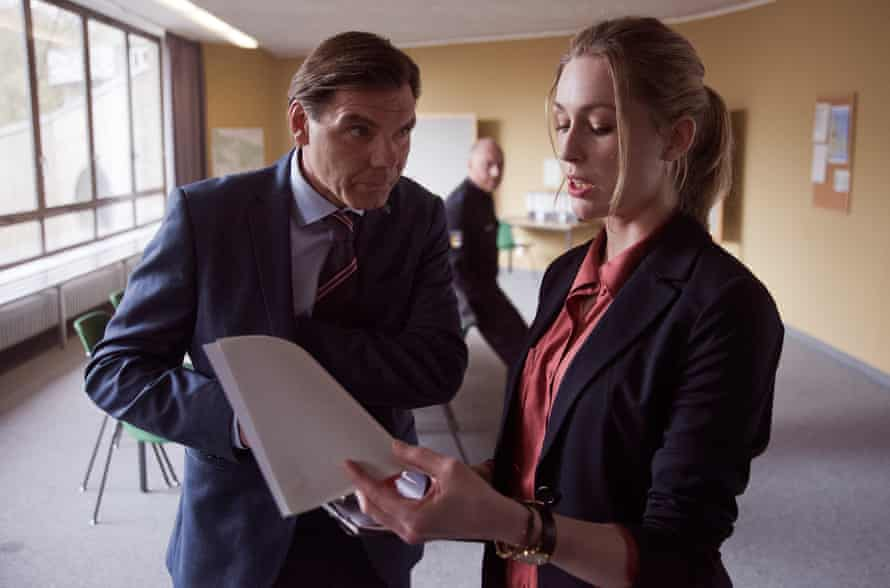 Rikke Lylloff, right, with Max Hopp in the xxx Nordic Murders.