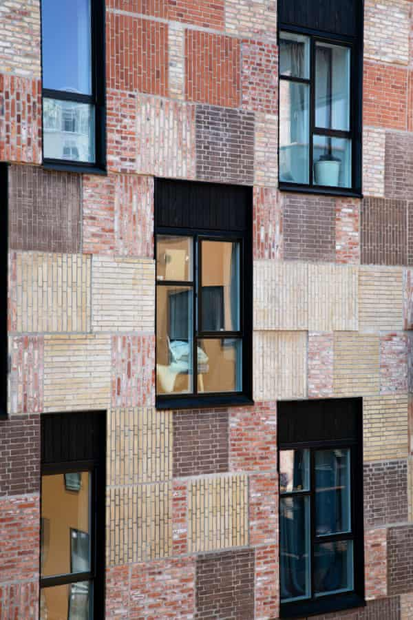 Resource Rows, which used panels of brickwork taken from the demolition of Copenhagen's Carlsberg brewery.