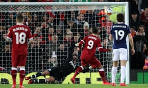 Liverpool were awarded a penalty after consultation with the VAR, but Roberto Firmino hit the crossbar from the spot.