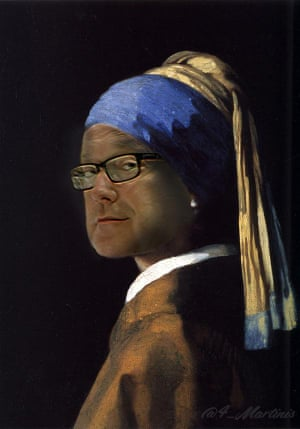 George with a Pearl Earring (after Johannes Vermeer)