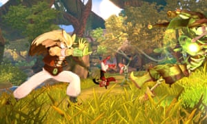 A gameplay image from Shiness: The Lightning Kingdom.