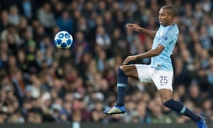 Fernandinho in action against Shakhtar Donetsk. The Brazilian has yet to miss a Premier League or Champions League fixture this season.