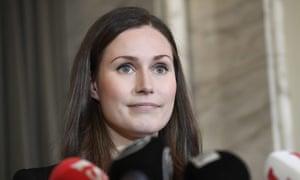 Finland's new prime minister, Sanna Marin.