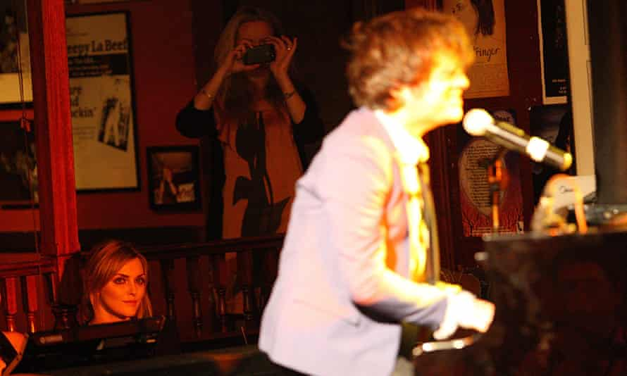 Jamie Cullum plays the Basement, watched by his wife Sophie Dahl