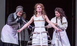 Horror-movie touches … Amy Conroy, Imogen Doel, Aoife Duffin and Genevieve Hulme-Beaman in The Taming of the Shrew.