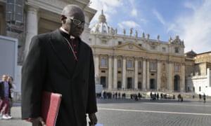 Cardinal Robert Sarah, in St Peter's Square