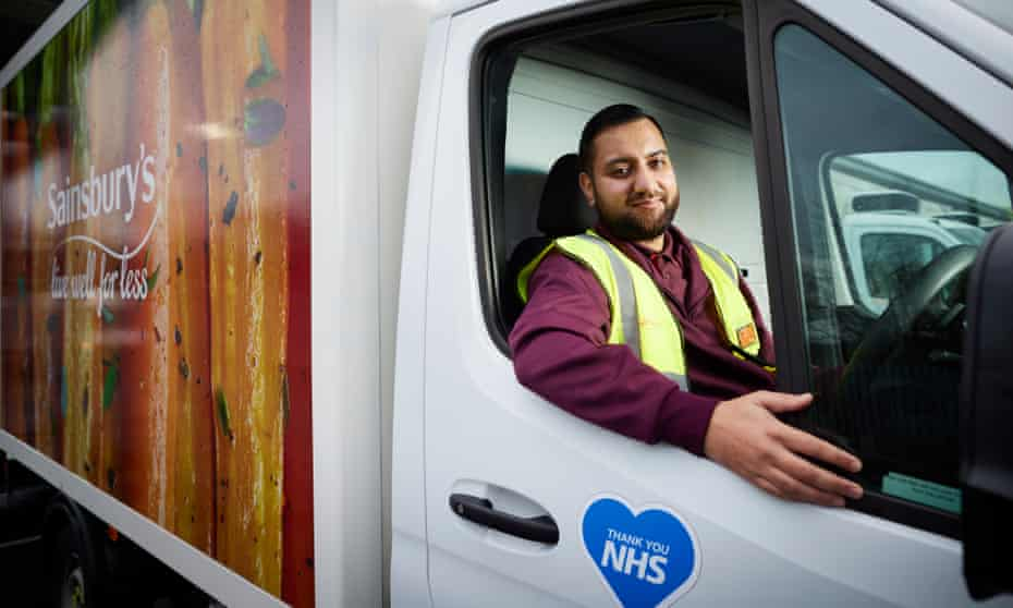 Ahmir Hussain, a Sainsbury's delivery driver in east London