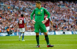 Shay Given looks dejected.