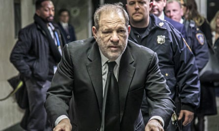 Harvey Weinstein leaves a courthouse in New York, New York, on 16 January.