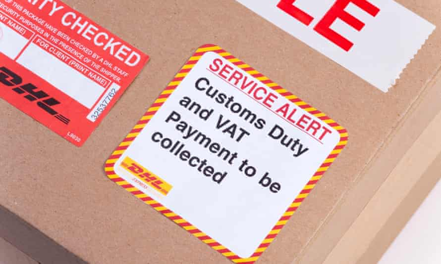 Ordering online from the EU is attracting this dreaded sticker on the delivery.